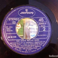 Discos de vinilo: SINGLE. THE STEVE MILLER BAND. ABRACADABRA - NEVER SAY NO. 1982 (SIN CARPETA). Lote 166917464