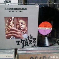 Discos de vinilo: LMV - JOHN COLTRANE. GIANT STEPS. THAT'S JAZZ. ATLANTIC RECORDS 1977, REF. HATS 421-222. LP. Lote 166923256