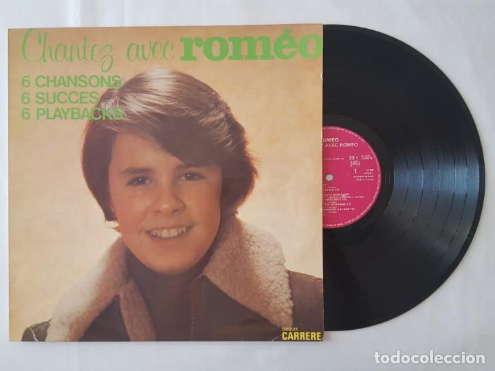 LP / ROMEO / CHANTEZ AVEC ROMEO / CARRERE 1975 EDITADO EN FRANCIA (Música - Discos - LP Vinilo - Canción Francesa e Italiana)