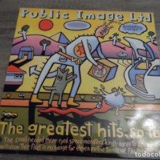 Discos de vinilo: PUBLIC IMAGE LTD - THE GREATEST HITS, SO FAR. Lote 166927664
