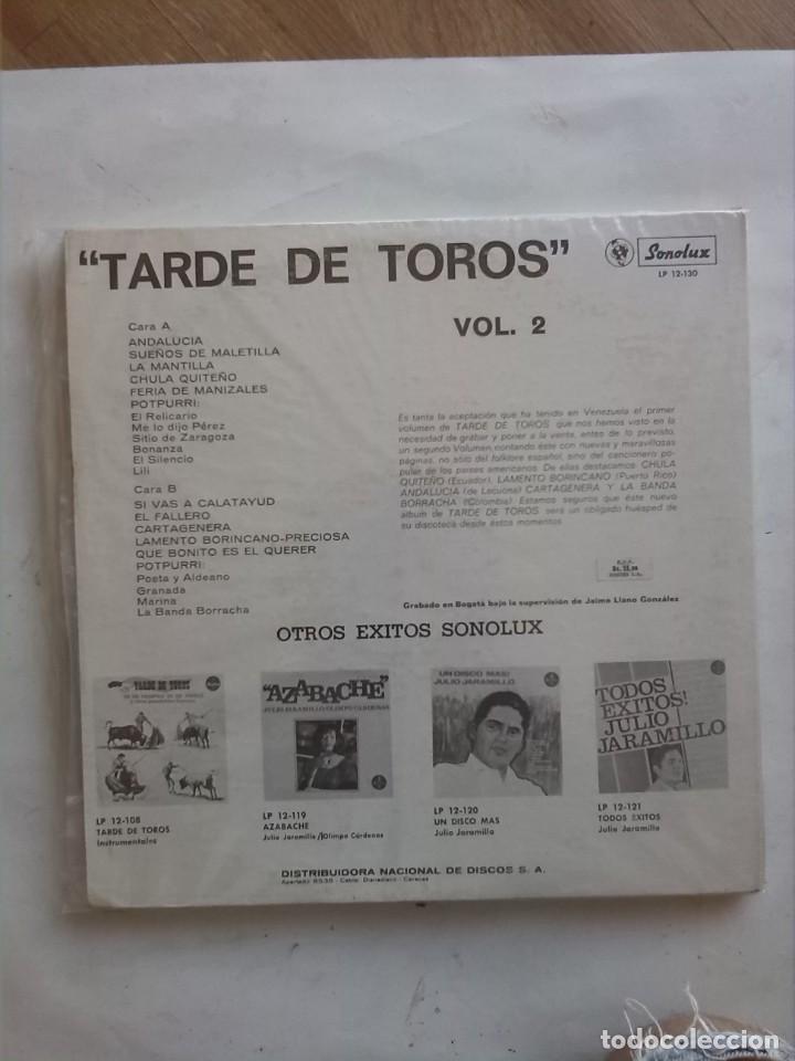 Discos de vinilo: TARDE DE TOROS VOL II - Foto 2 - 166952756