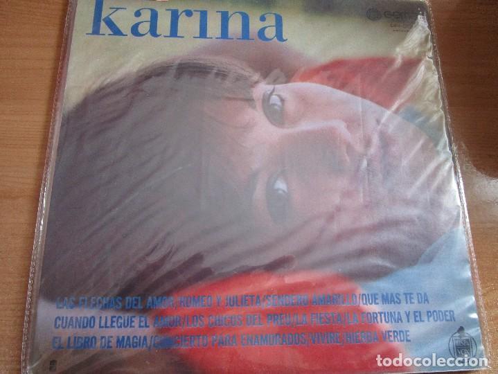 KARINA ( U.S.A. ) LA FIESTA // ROMEO Y JULIETA // LOS CHICOS DEL PREU // ( ENVIO GRATIS ) (Música - Discos - LP Vinilo - Solistas Españoles de los 50 y 60)