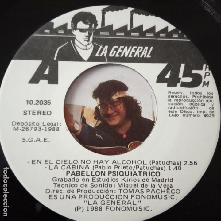 Discos de vinilo: PABELLON PSIQUIATRICO- EN EL CIELO NO HAY ALCOHOL - EP 1988 - COMO NUEVO. - Foto 3 - 166980348