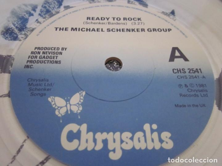 Discos de vinilo: THE MICHAEL SCHENKER GROUP - READY TO ROCK - SN - EDICION INGLESA DEL AÑO 1986.CLEAR VINYL. - Foto 4 - 166990588