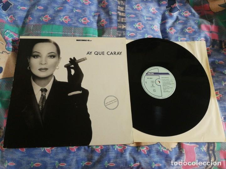 SARA MONTIEL AY QUE CARAY MAXI SINGLE VINILO PROMO 1988 TEMA JOSE MARIA CANO MECANO MISMO TEMA (Música - Discos de Vinilo - Maxi Singles - Flamenco, Canción española y Cuplé)