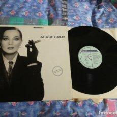 Discos de vinilo: SARA MONTIEL AY QUE CARAY MAXI SINGLE VINILO PROMO 1988 TEMA JOSE MARIA CANO MECANO MISMO TEMA. Lote 164622702