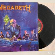 Discos de vinilo: DISCO LP VINILO MEGADETH – RUST IN PEACE EDICION ESPAÑOLA DE 1990 THRASH METAL. Lote 167000892