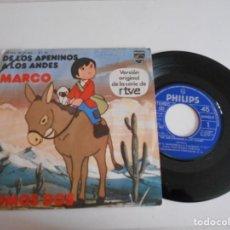 Dischi in vinile: MARCO-SINGLE V.O DE LA SERIE DE RTVE. Lote 167008520