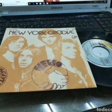 Discos de vinilo: HELLO SINGLE NEW YORK GROOVE ESPAÑA 1975. Lote 167046660