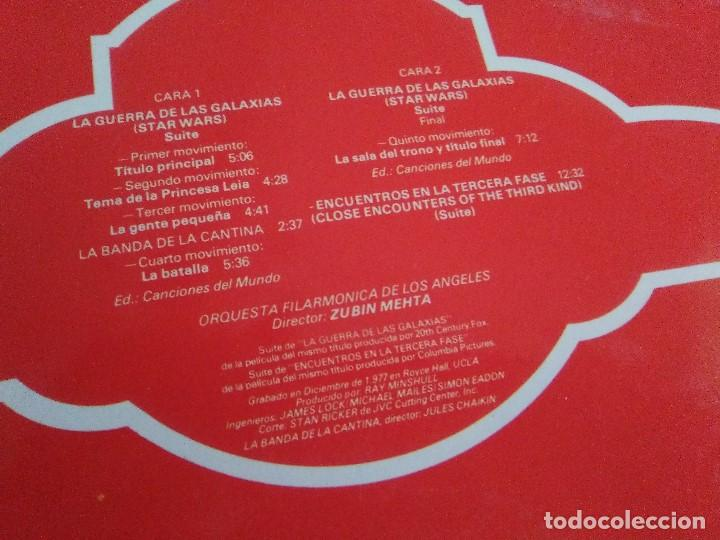 Discos de vinilo: LP JOHN WILLIAMS & ZUBIN MEHTA : SUITES LA GUERRA DE LAS GALAXIAS & ENCUENTROS EN LA TERCERA FASE - Foto 2 - 167069716