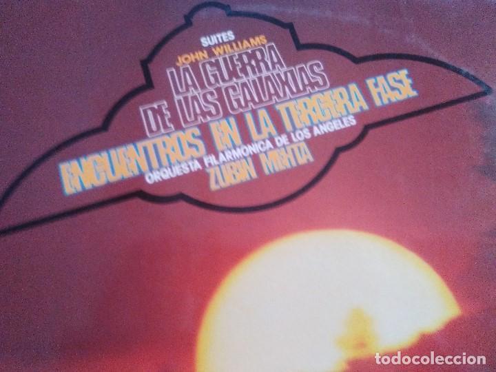 Discos de vinilo: LP JOHN WILLIAMS & ZUBIN MEHTA : SUITES LA GUERRA DE LAS GALAXIAS & ENCUENTROS EN LA TERCERA FASE - Foto 5 - 167069716