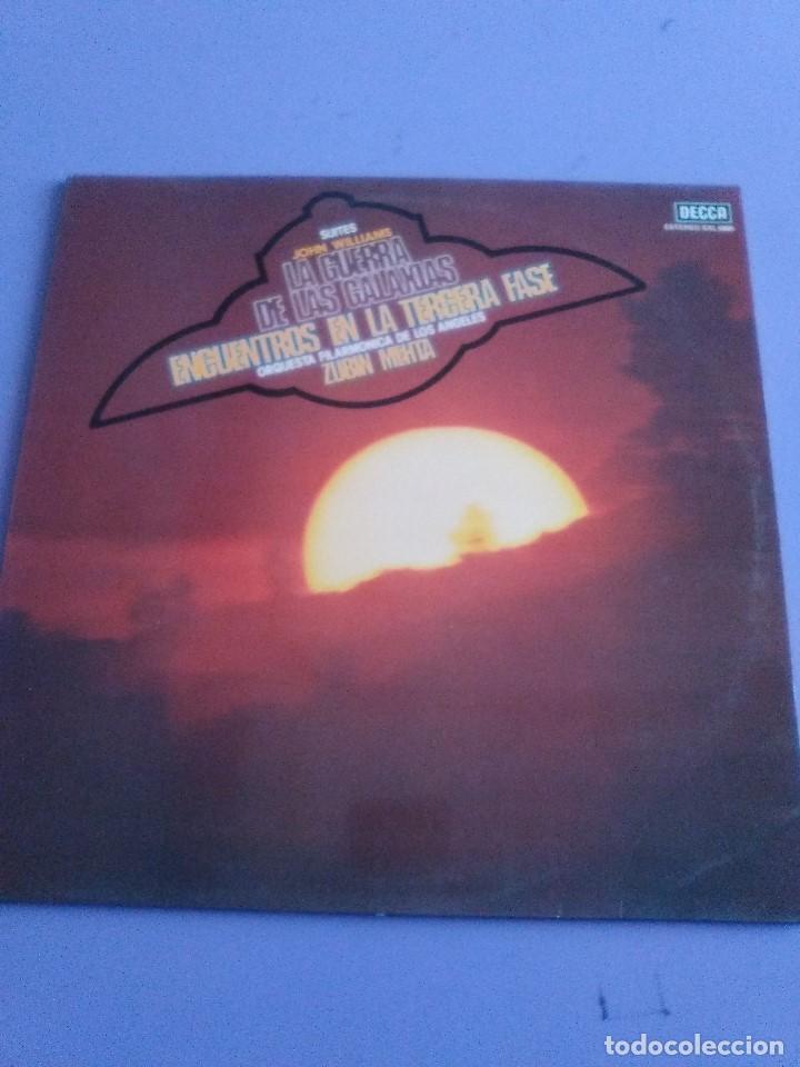 Discos de vinilo: LP JOHN WILLIAMS & ZUBIN MEHTA : SUITES LA GUERRA DE LAS GALAXIAS & ENCUENTROS EN LA TERCERA FASE - Foto 8 - 167069716