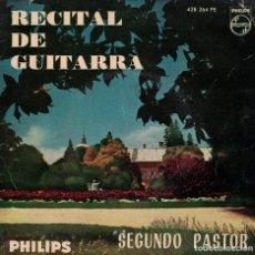 Discos de vinil: SEGUNDO PASTOR - RECITAL DE GUITARRA (ANDANTINO/BOURREE/PAVANA/ESPAÑOLETA/ROMANCE/MARCHA CORTESANA). Lote 167100208