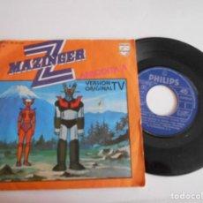 Discos de vinilo: MAZINGER Z-SINGLE-VERSION ORIGINAL. Lote 167109756