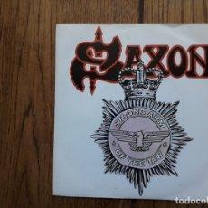 Discos de vinilo: SAXON - STRONG ARM OF THE LAW + TAKING YOUR CHANCES . Lote 167117248
