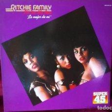 Discos de vinilo: MAXI SINGLE THE RITCHIE FAMILY : I´LL DO MY BEST ( LO MEJOR DE MI) 1982, ESPAÑA. COMO NUEVO. Lote 167127312