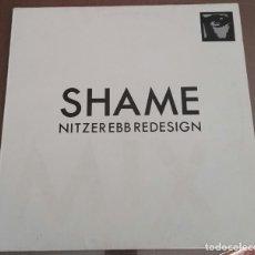 Discos de vinilo: NITZER EBB ?– SHAME REDESIGN MAXI. Lote 167132876