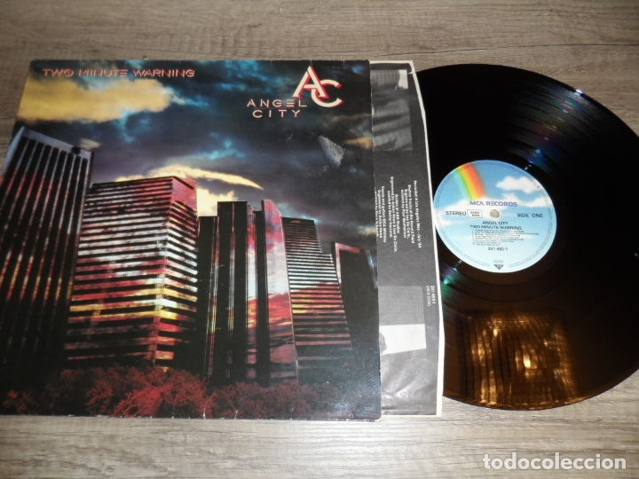 ANGEL CITY - TWO MINUTE WARNING (Música - Discos - LP Vinilo - Heavy - Metal)