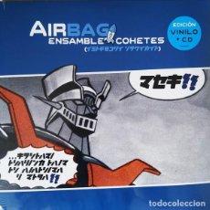 Discos de vinilo: LP AIRBAG ENSAMBLE COHETES VINILO AZUL+ CD PUNK POP. Lote 233531205