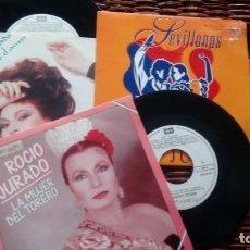 Discos de vinilo: LOTE DE 3 SINGLES (VINILO) DE ROCIO JURADO. Lote 167171117