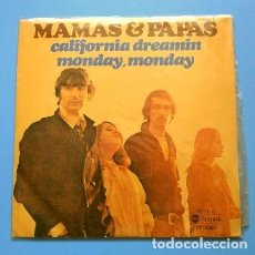 Discos de vinilo: MAMAS & PAPAS (SINGLE 1966) CALIFORNIA DREAMIN - MONDAY MONDAY - EDICIÓN 1976. Lote 167179884
