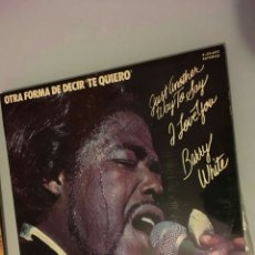 Discos de vinilo: LP BARRY WHITE. Lote 167182054