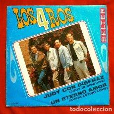 Discos de vinilo: LOS 4 ROS (SINGLE 1968) JUDY CON DISFRAZ - UN ETERNO AMOR. Lote 167183536