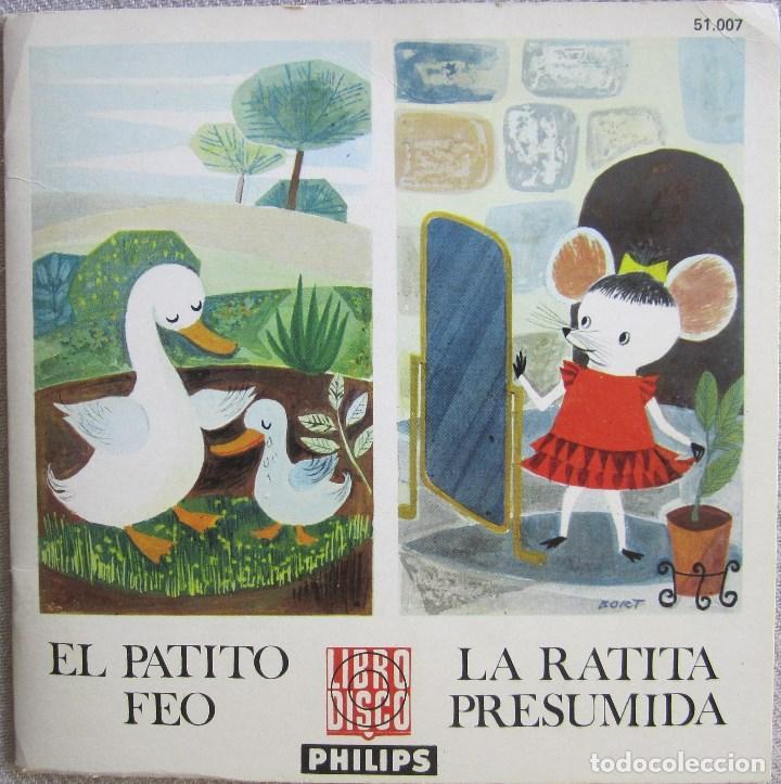 EL PATITO FEO / LA RATITA PRESUMIDA. LIBRO DISCO PHILIPS. CON LIBRETO DE 8 PÁGINAS (Música - Discos de Vinilo - EPs - Música Infantil)