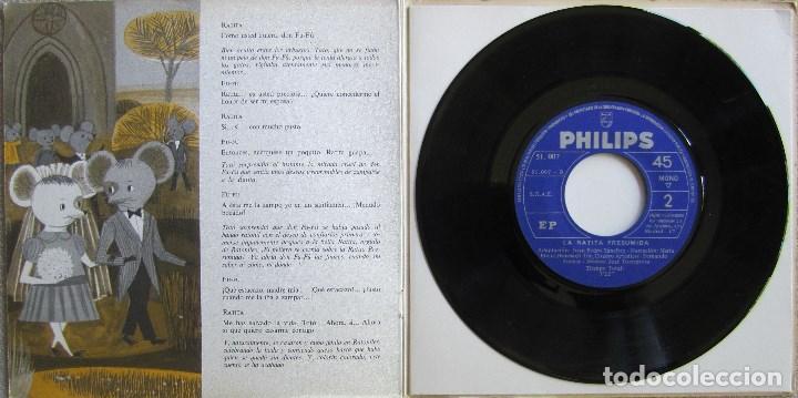 Discos de vinilo: EL PATITO FEO / LA RATITA PRESUMIDA. LIBRO DISCO PHILIPS. CON LIBRETO DE 8 PÁGINAS - Foto 4 - 167210312