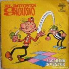 Discos de vinil: EL BOTONES SACARINO: SACARINO INVEMTOR. INCLUYE LIBRETO / COMIC DE 6 PÁGINAS DE IBÁÑEZ. Lote 167217636