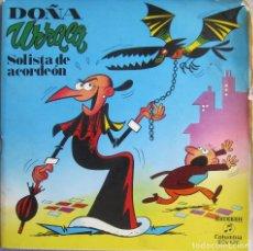 Discos de vinil: DOÑA URRACA: SOLISTA DE ACORDEÓN. INCLUYE LIBRETO / COMIC DE 6 PÁGINAS DE ESCOBAR. Lote 167220120