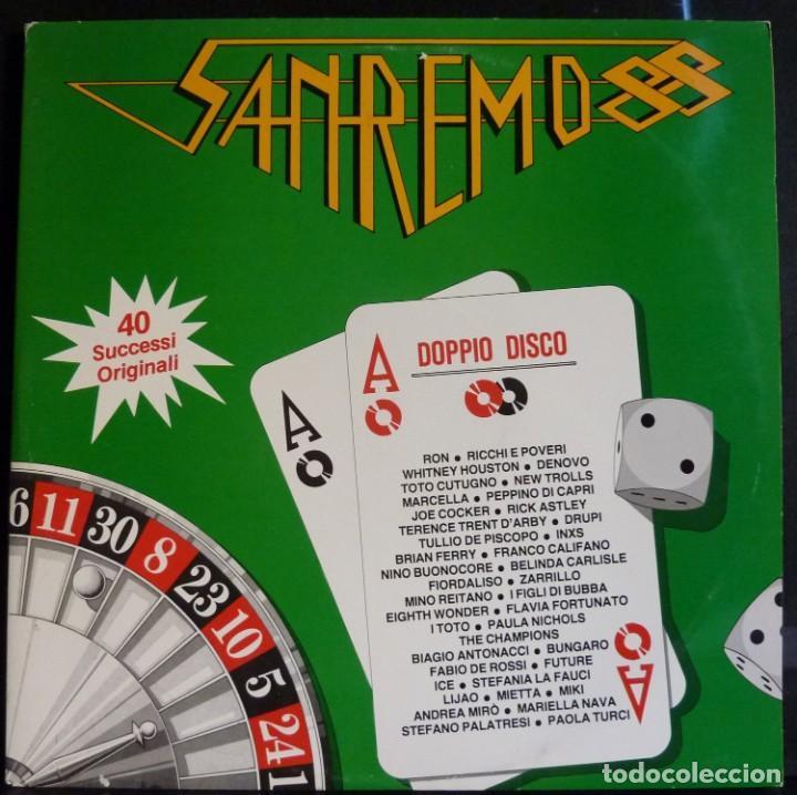 SANREMO 88 // DISCO Y PORTADA DOBLE // 1988 // (VG VG). MADE IN ITALY. LP (Música - Discos - LP Vinilo - Canción Francesa e Italiana)