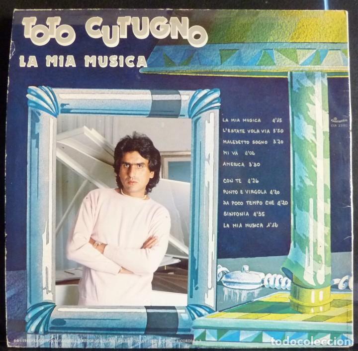Discos de vinilo: TOTO CUTUGNO // LA MIA MUSICA // 1981 // PORTADA DOBLE // (VG+ VG+).MADE IN ITALY. LP - Foto 2 - 167296432