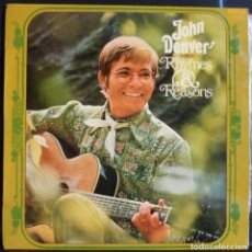 Discos de vinilo: JOHN DENVER // RHYNES & REASONS // 1975 (VG VG). LP. Lote 167300936