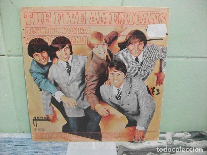 Discos de vinilo: THE FIVE AMERICANS DISTRITO POSTAL SINGLE SPAIN 1967 PDELUXE - Foto 2 - 167306120