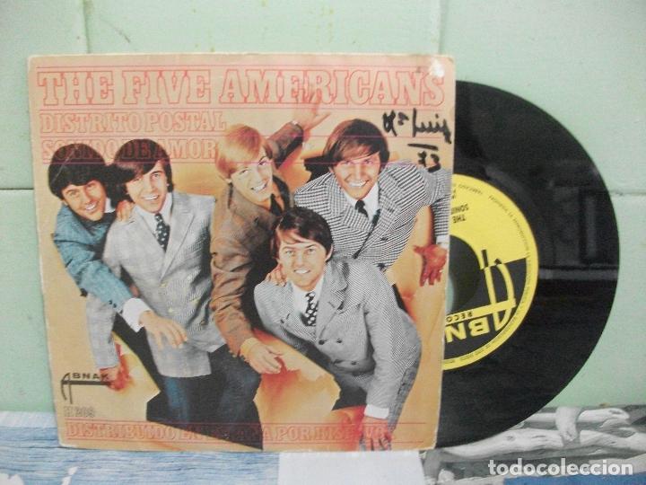 THE FIVE AMERICANS DISTRITO POSTAL SINGLE SPAIN 1967 PDELUXE (Música - Discos - Singles Vinilo - Pop - Rock Extranjero de los 50 y 60)