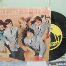 Discos de vinilo: THE FIVE AMERICANS DISTRITO POSTAL SINGLE SPAIN 1967 PDELUXE. Lote 167306120