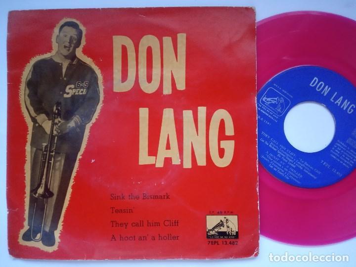 DON LANG - SINK THE BISMARK - EP 1960 - LA VOZ DE SU AMO - VINILO ROSA (Música - Discos de Vinilo - EPs - Rock & Roll)