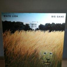 Disques de vinyle: WHITE LION | BIG GAME | LP | ATLANTIC 1989 EU | INSERTO LETRAS. Lote 119420719