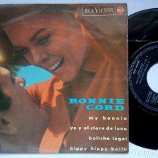 Discos de vinilo: RONNIE CORD - HIPPY HIPPY BAILA - EP 1965 - RCA. Lote 167452028
