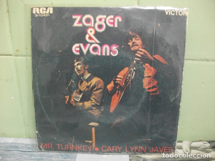 Discos de vinilo: ZAGER & EVANS MR.TURNKEY single spain 1965 pdeluxe - Foto 2 - 167454096