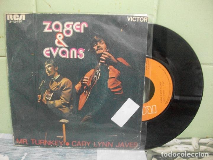 ZAGER & EVANS MR.TURNKEY SINGLE SPAIN 1965 PDELUXE (Música - Discos - Singles Vinilo - Pop - Rock Extranjero de los 50 y 60)