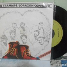 Discos de vinilo: THE TRAMMPS CORAZON CONFIADO SINGLE SPAIN 1975 PDELUXE. Lote 167455864