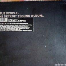 Discos de vinilo: TRUE PEOPLE THE DETROIT TECHNO ALBUM 5 VINILOS LIMITED. Lote 167465960