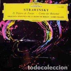 Discos de vinilo: STTRAWINSKY – EL PAJARO DE FUEGO – CANTO DEL RUISEÑOR - DEUTSCHE GRAMMOPHON – ORQUESTA SINFÓNICA DE. Lote 167468312