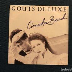 Discos de vinilo: GOUTS DE LUXE* ?– OMAHA BEACH LABEL: WEA ?– 248347-7, WEA ?– 248 347-7 FORMAT: VINYL, 7 . Lote 167473904