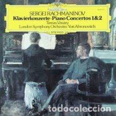 Discos de vinilo: SERGEI RACHMANINOV –KLAVIERKONCERTE –PIANO CONCERTOS 1 Y 2- DEUTSCHE GRAMMOPHON. Lote 167487668