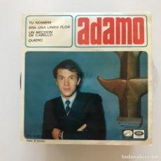 Discos de vinilo: ADAMO - TU NOMBRE - EP LA VOZ DE SU AMO 1966 - EN ESPAÑOL. Lote 167493456
