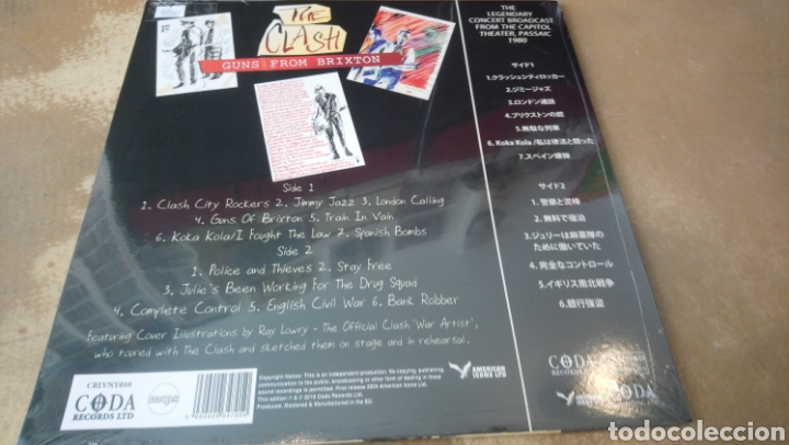 Discos de vinilo: The clash, Guns from Brixton. Limited edition. LP vinilo precintado - Foto 2 - 167505801