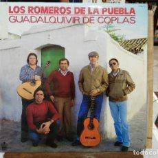 Discos de vinilo: LOS ROMEROS DE LA PUEBLA - SEVILLANAS - GUADALQUIVIR DE COPLAS - LP. DEL SELLO HISPAVOX 1982. Lote 221243406